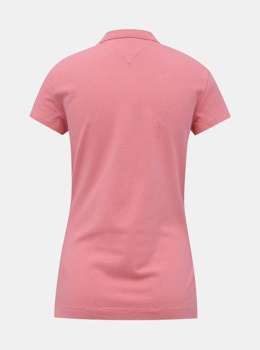 Růžové dámské basic polo tričko Tommy Hilfiger