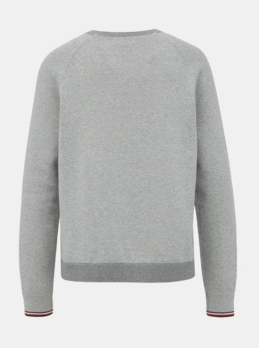 Šedý dámsky basic sveter Tommy Hilfiger