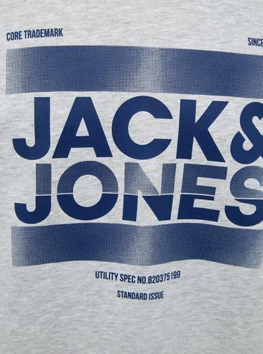 Svetlošedá mikina s potlačou Jack & Jones Core Eddie