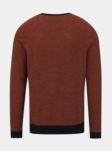 Hnedý vzorovaný sveter Jack & Jones Neil