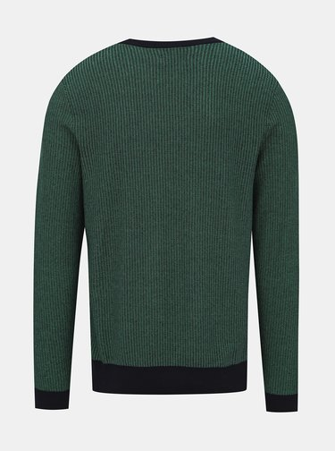 Zelený vzorovaný svetr Jack & Jones Neil