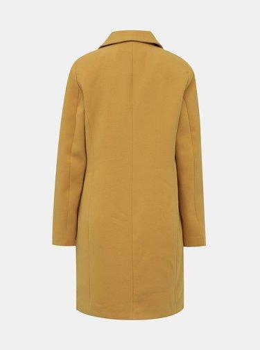 Hořčicový kabát VERO MODA Calacindy