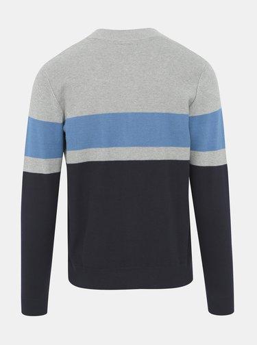 Modro-šedý sveter Jack & Jones Baxtor