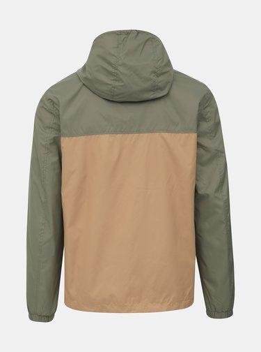 Hnědo-zelená bunda Jack & Jones Cott