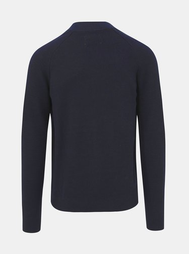 Čierny sveter na zips Jack & Jones Neptun