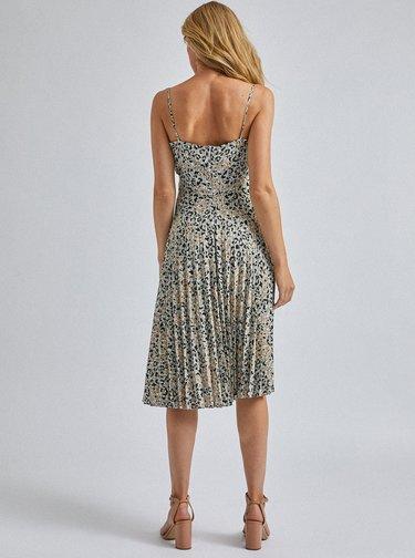 Šedé midi šaty s leopardím vzorem Dorothy Perkins
