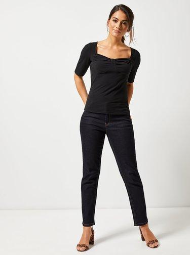 Tricou negru cu striatii Dorothy Perkins Petite