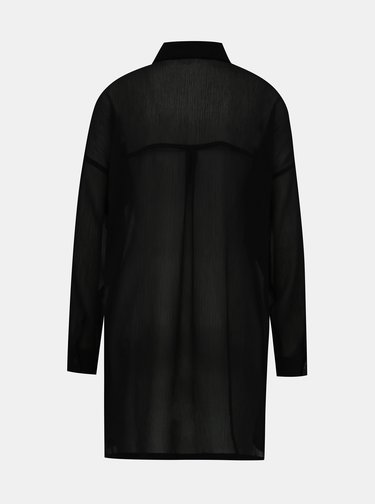 Černá průsvitná košile Noisy May Neno