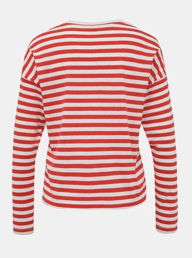 Bílo-červené pruhované tričko ONLY Rosely