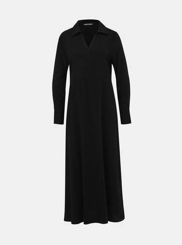 Čierne košeľové maxišaty ONLY Alma