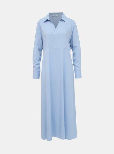 Světle modré košilové maxišaty ONLY Alma