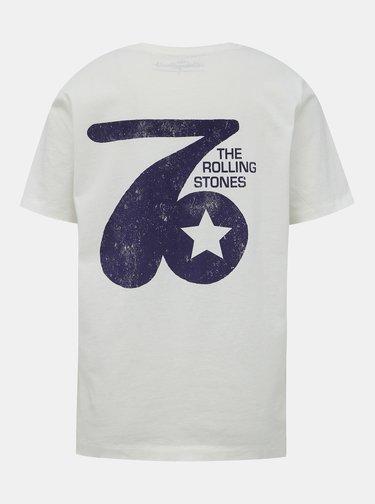 Krémové tričko ONLY Rolling Stones