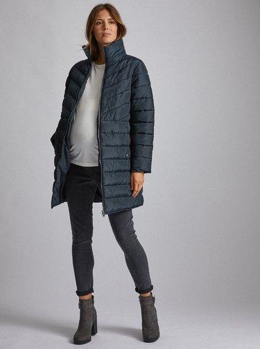 Tmavomodrý tehotenský kabát Dorothy Perkins Maternity
