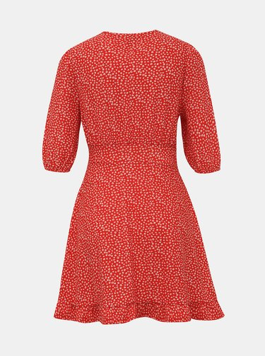 Červené kvetované šaty Miss Selfridge