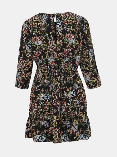 Čierne kvetované šaty Miss Selfridge Petites