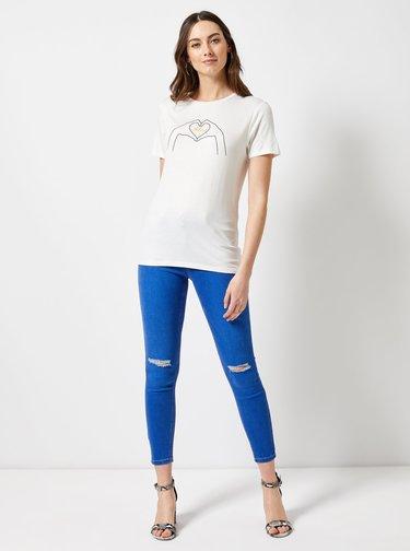 Biele tričko s potlačou Dorothy Perkins