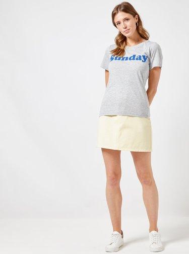 Šedé tričko s potlačou Dorothy Perkins