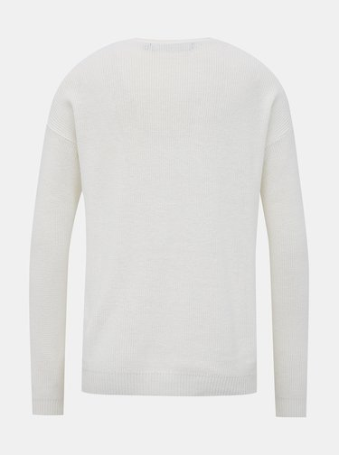 Biely basic sveter VERO MODA Lexa