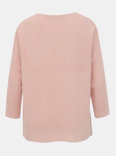 Svetloružový basic sveter VERO MODA Nora