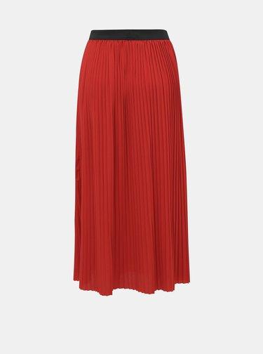 Červená plisovaná midi sukně Jacqueline de Yong Paris
