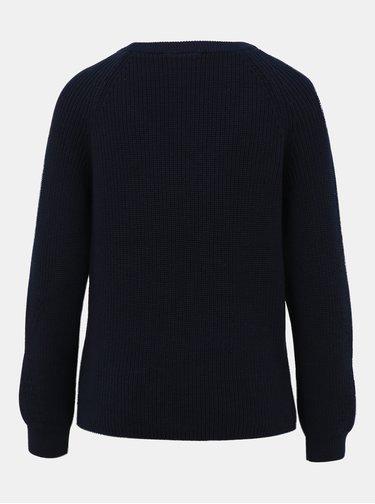 Tmavomodrý basic sveter VILA Myntani