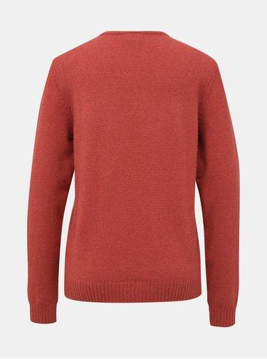 Tehlový basic sveter VILA Ril