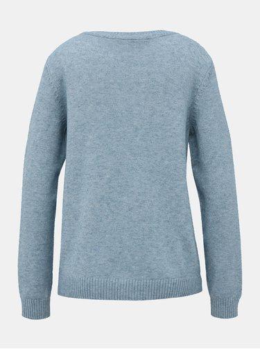 Svetlomodrý basic sveter VILA Ril