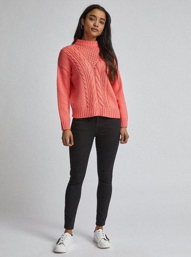 Černé skinny fit džíny Dorothy Perkins Petite Shape & Lift