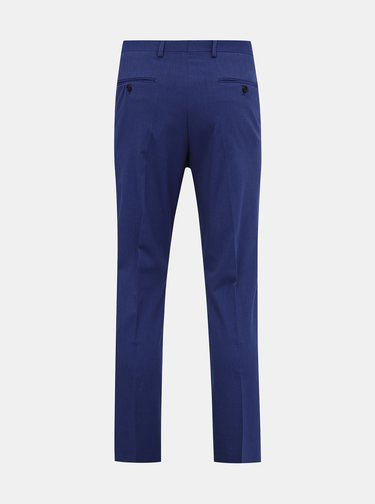Modré oblekové kalhoty Selected Homme Logan