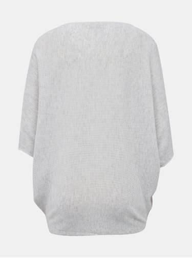 Svetlošedý sveter s netopierými rukávmi Jacqueline de Yong New Behave