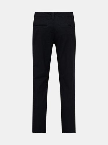 Černé slim fit kalhoty Selected Homme Flex