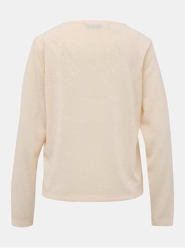 Béžový ľahký basic sveter Noisy May Fasse