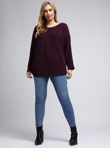 Fialový sveter Dorothy Perkins Curve