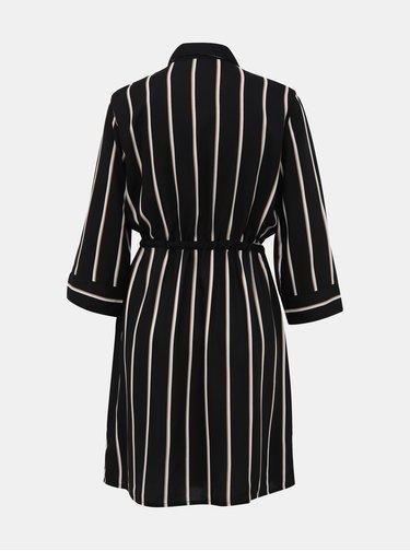 Čierne pruhované košeľové šaty ONLY Tamari