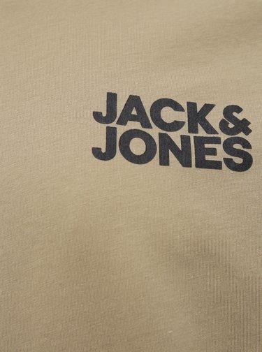 Béžové tričko s potlačou Jack & Jones Corp