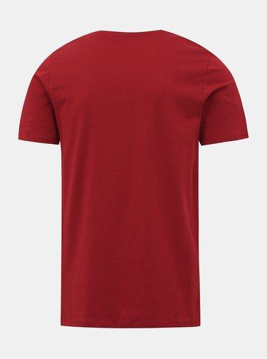 Červené tričko s potiskem Jack & Jones Corp