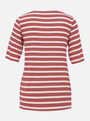 Červené pruhované tričko Jacqueline de Yong Camina