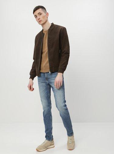 Modré pánske straight fit rifle Calvin Klein Jeans Montana