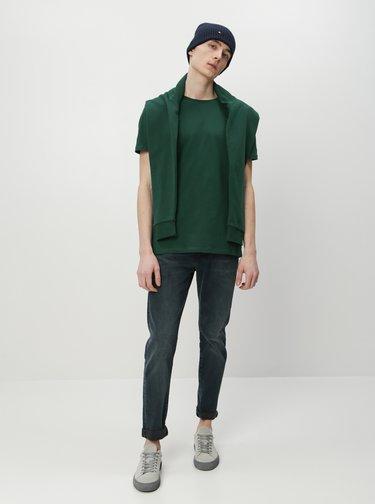 Tmavozelené pánske basic tričko ZOOT David