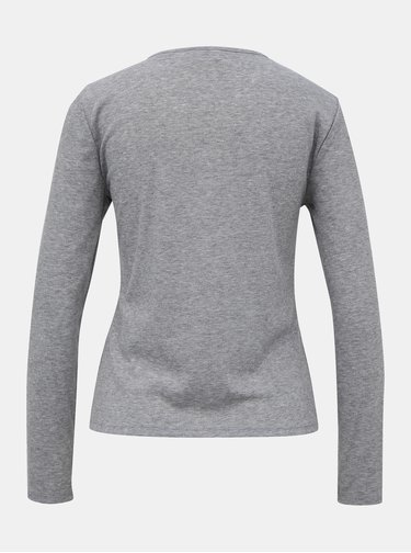 Šedé tričko Noisy May Henley