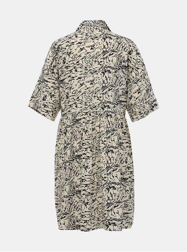 Krémové vzorované košeľové šaty Noisy May Sula