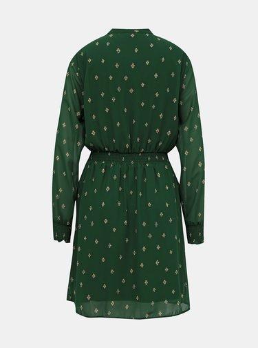 Zelené vzorované šaty VILA Sunema