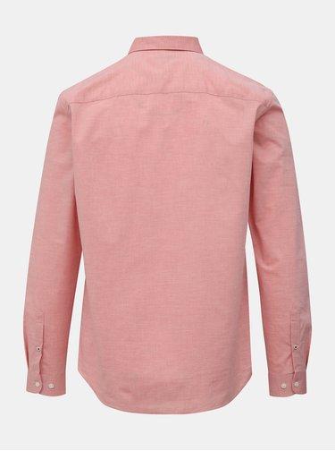 Ružová slim fit košeľa Jack & Jones Bla