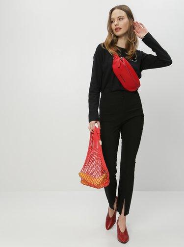 Čierne nohavice s rozparkami Miss Selfridge