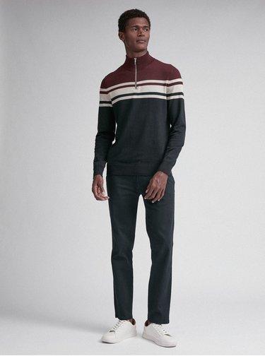 Hnědo-modrý svetr Burton Menswear London