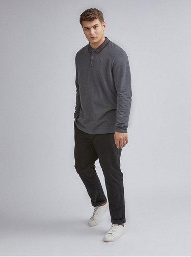 Tmavě šedé polo tričko Burton Menswear London