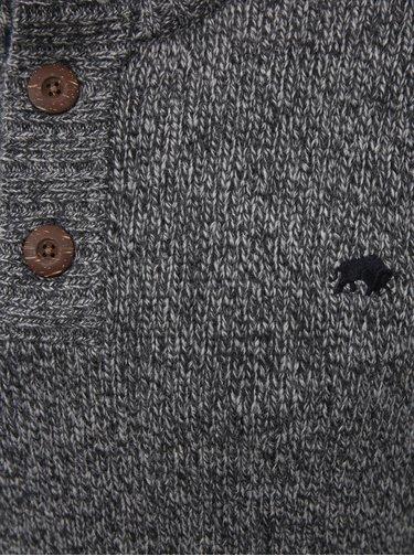 Šedý vlnený sveter Raging Bull