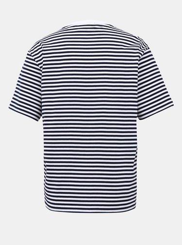 Bílo-modré dámské pruhované basic tričko Lacoste
