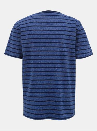 Tmavomodré pruhované tričko s výšivkou Raging Bull