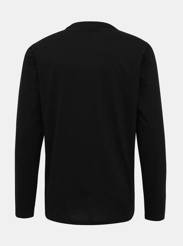 Čierne pánske basic tričko Lacoste